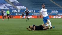 Momentul accidentarii lui Elvir Koljic