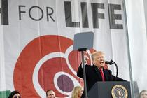 "Trump la un miting ""pro life"" in Washington"