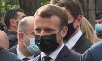 Macron la Nisa, dupa atac