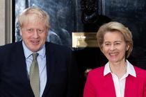 Boris Johnson si Ursula von der Leyen