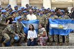 Soldati argentinieni alaturi de papa Francisc