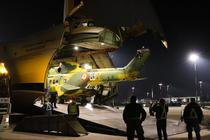 Elicoptere Puma transportate cu un Antonov AN-124