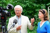 Regele Carl Gustaf al Suediei si sotia sa, regina Silvia