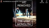 Monolitul din Utah, dezmembrat