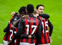 AC Milan si bucuria golului