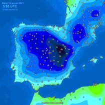 Temperaturile din Spania in dimineata zilei de 12 ianuarie