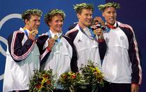 Klete Keller (dreapta) la Jocurile Olimpice