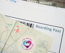 Pașaport pe care este menționată vaccinarea anti-COVID19