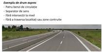 Exemplu de drum expres
