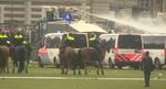 Protestatari dispersati in Amsterdam