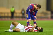 Lionel Messi, eliminat pentru lovirea unui advesar