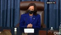 Kamala Harris conduce sedinta Senatului (Screenshot)