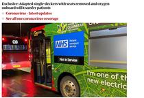 autobuze Londra transformate in ambulante