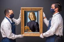 Tanar tinand un medalion de Botticelli