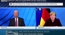 Angela Merkel si Klaus Schwab la Davos