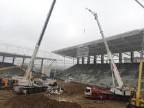 Stadionul Rapid, realizat in proportie de 55%