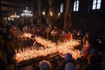 Borcane cu miere sfintite in Blagoevgrad, Bulgaria