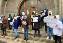 Protest la Colegiul Sincai