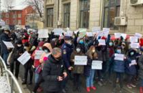 Protest la Colegiul Sincai 1