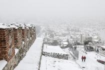 Iarna grea in Salonic