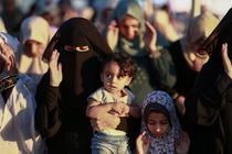 Femei musulmane in fasia Gaza
