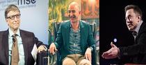 Bill Gates, Jeff Bezos si Elon Musk