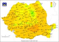 Temperaturile pe 26 februarie la ora 15