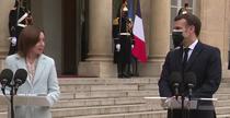 Maia Sandu si Emmanuel Macron