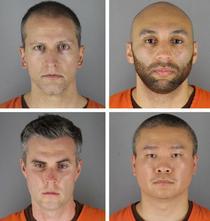 Cei patru ofiteri acuzati de uciderea lui George Floyd