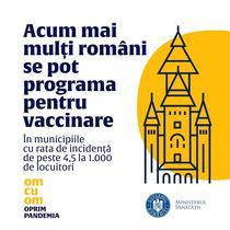 afis Ministerul Sanatatii cu catedrala din Timisoara