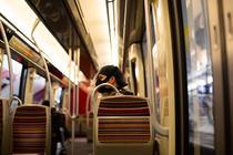 Pasager al metroului din Paris