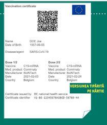 Pasaport Covid versiune tiparita