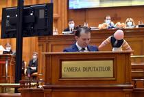 Florin Cîțu, Paralment - ședință buget