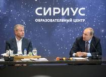 Roman Abramovici alaturi de Vladimir Putin