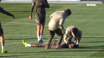 Moussa Dembele a lesinat in timpul antrenamentului