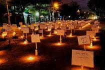 Protest cu candele in Myanmar
