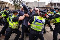 Protest anti-lockdown, Bradford, Marea Britanie, martie 2021