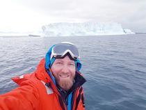 Cristian Coman in Antarctica