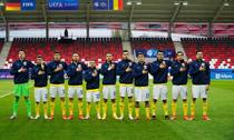 Fotbalistii nationalei de tineret a Romaniei inaintea meciului cu Germania