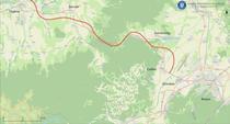 Traseul autostrăzii Brașov - Făgăraș