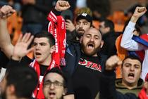 Fani in tribuna la Armenia vs Romania