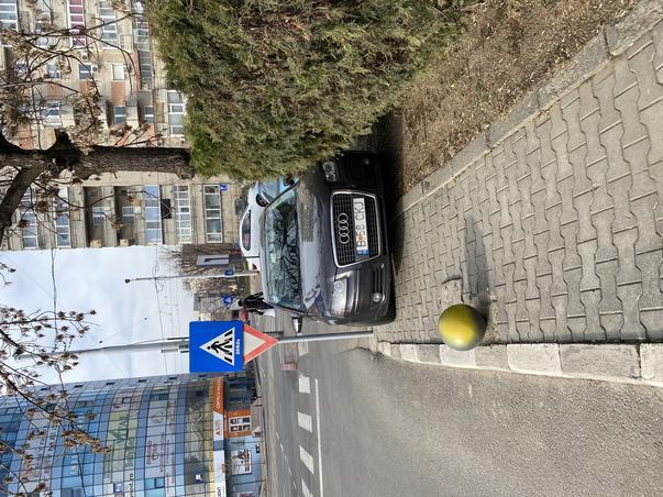 Parcare pe trotuar