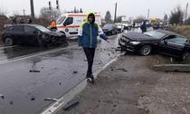 Fotbalisti de la FC Pucioasa, accident rutier