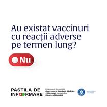 Au existat vaccinuri cu reactii adverse pe termen lung?