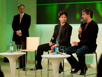 Sergey Brin (stanga) si Larry Page (dreapta)
