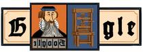 Google Doodle in onoarea lui Johannes Gutenberg