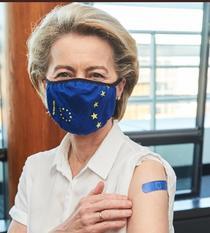 Ursula von der Leyen s-a vaccinat (sursa foto: twitter)