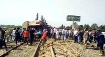 Tren deraiat in Egipt