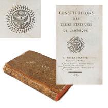 Constituțiile celor treisprezece State Unite ale Americii, în licitație la București