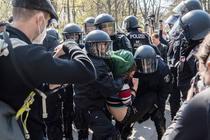 Protest impotriva restrictiilor in Berlin